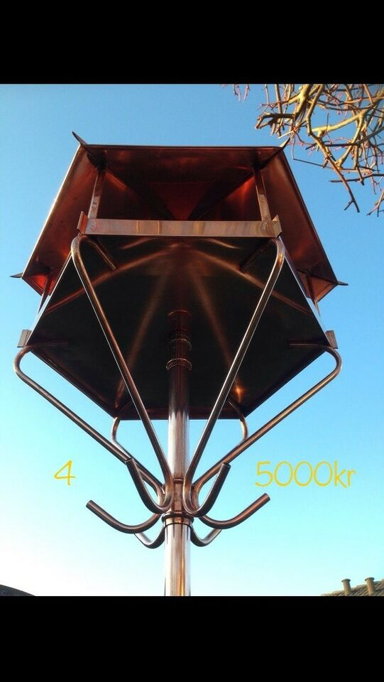 Kobber fuglehus / foderbræt