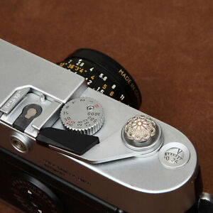 Camera Soft Shutter Release Button Hollowed-out Petal for Fuji Leica Sony 11mm