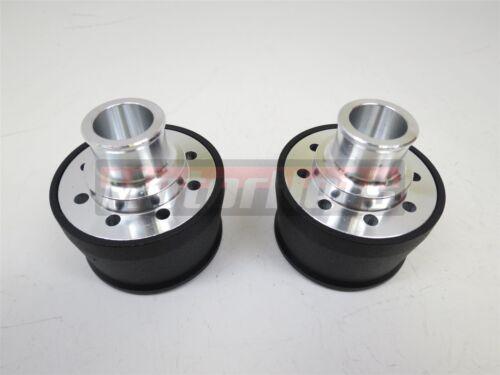 2x Black Powder coated Aluminum Plain Valve Cover Breather Chevy Ford Mopar SBC