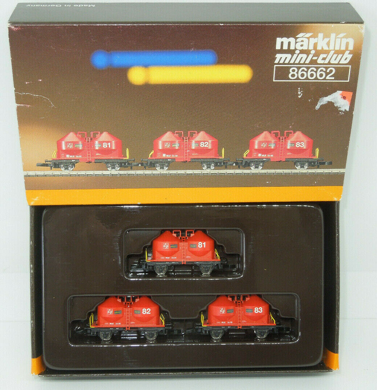 Märklin mini-club 86662 staubgut Wagenset WLE - 3 pezzi