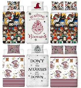Official-Harry-Potter-Licensed-Duvet-Covers-Single-Double-Muggles-Hogwarts-Charm