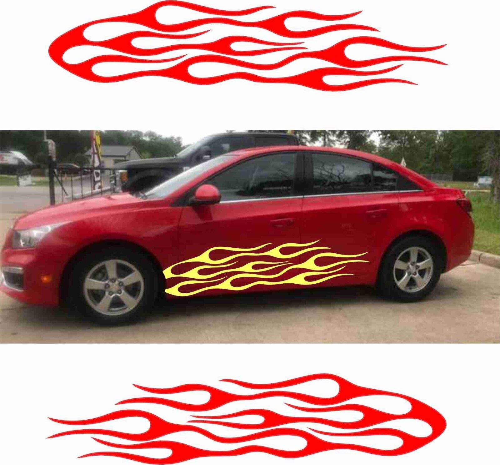 Firefighter 3-in-1 Combo Adhesive DECALS non-magnetic! Automotive