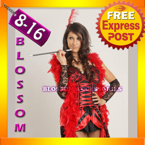 B64 BURLESQUE Ladies SALOON GIRL Flapper Fancy Dress Costume