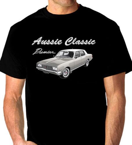 8 CAR COLOURS 1970  HOLDEN HG  PREMIER  V8  SEDAN  BLACK  TSHIRT BIG FIT