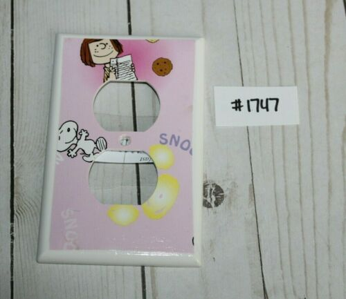 Light Switch Electrical Outlet Kids Room Peanuts Snoopy Switchplate Cover