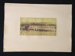 Armin-sabbioso-Ohne-Titel-farbradierung-1961-mano-firmati-e-numerati-V-V
