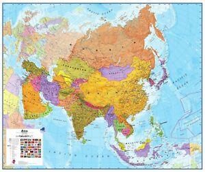 Details about Poster Asia Political Map Laminated Landscape Format  120x100cm #110064l