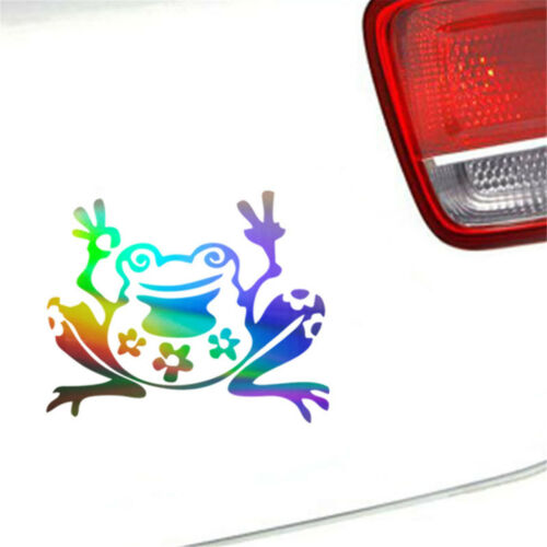 Funny Frog Animal Car Window Wall Door Sticker Bumper Laptop Truck Vinyl Decal
