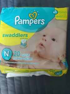 Newborn 20 Count Pampers Swaddlers Diapers Up to 10 lbs.