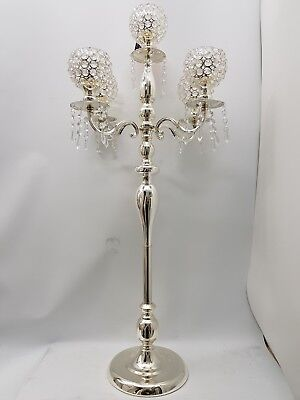 Exquisite Elegant Silver Gold Mirrored Tealight Holder Gift Set 55x14cm