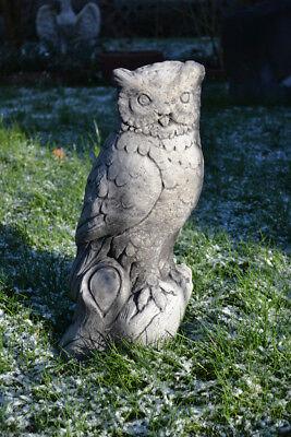 Uhu Kauz Steinfigur große sitzende Eule