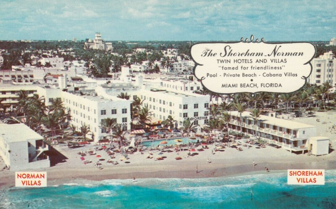 MIAMI BEACH , Florida , 50-60s ; The Shoreham - Norman, Twin Hotels & Motels