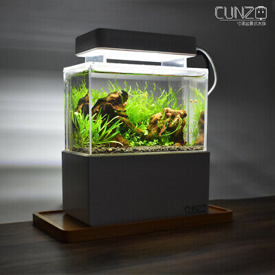Mini Complete Tank Shrimp Aquascape Nano Desktop Fish Aquarium Ebay