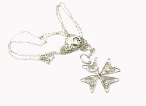 Vintage Delicate Silver Filigree Maltese 875 Silver Cross Pendant Chain Necklace