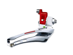 Microshift White Series 2X10//11SPD Brazed On Front Derailleur WhiteRed