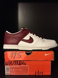 2007 ¡Raro 5 Low Red 11 Cl Tamaño Blanco Nike Team Dunk qHvqpwfR