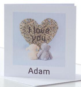 Image Is Loading Personalised Cute Birthday Card Husband Wife Fiancee Girlfriend
