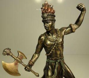 ORISHA-CHANGO-SHANG-God-of-FIRE-Yoruba-African-Statue-Sculpture-Bronze-Finish
