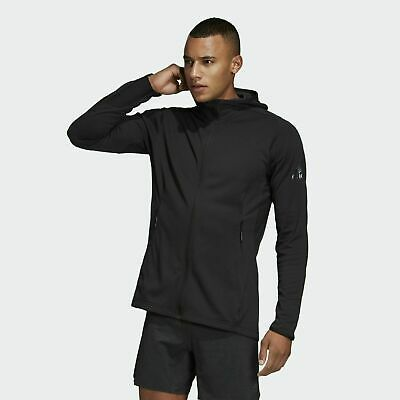 Mens Adidas FreeLift ClimaCool Full Zip black Hoodie tracksuit top hooded   eBay