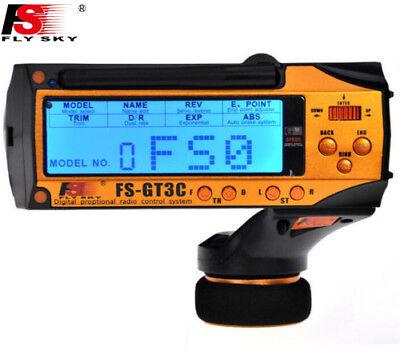 Flysky FS GT3C 2.4G 3CH RC CAR System w// battery GR3E Receiver Radio Controller