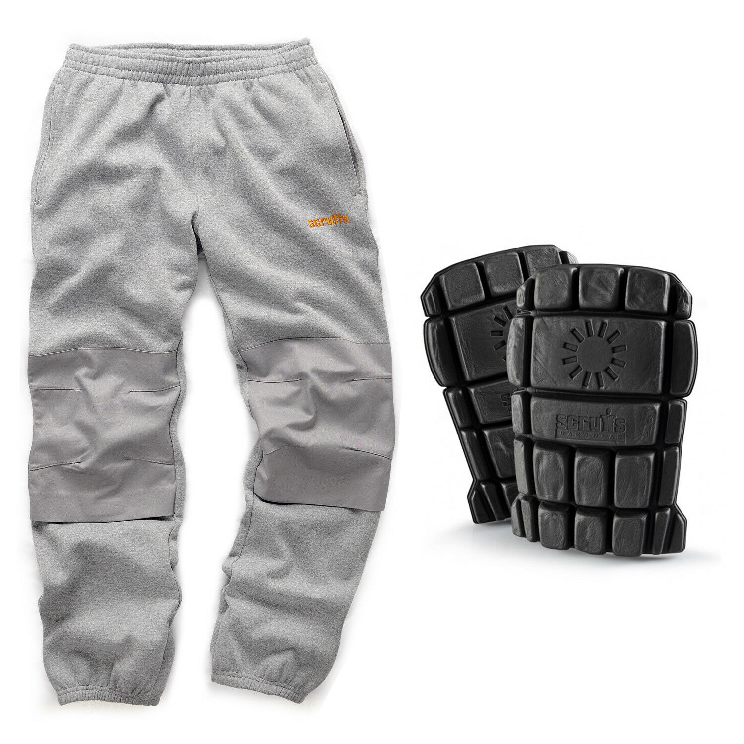 Scruffs Fleece Pants Light Grey Trousers with Scruffs Hardwearing Knee Pads