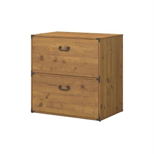 kathy ireland Office Ironworks Lateral File Cabinet in Vintage Pine