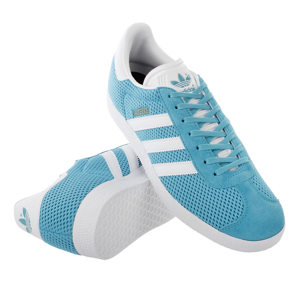 ADIDAS GAZELLE MENS TRAINERS - ENERGY blueE   WHITE( BB2761 ) UK 11 BRAND NEW