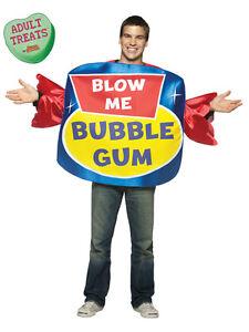 Adult Blow Me Bubble Gum Humour Costume Std Fancy Dress Brand New Ebay
