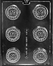 50 50TH FIFTIETH FIFTY COOKIE mold Chocolate Candy oreo anniversary birthday