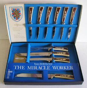 Vintage Regent Sheffield 10 Pc Presentation Knife Set Ebay