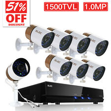 8CH HDMI CCTV DVR Outdoor Surveillance Security Camera System 1500TVL 1.0MP NEW