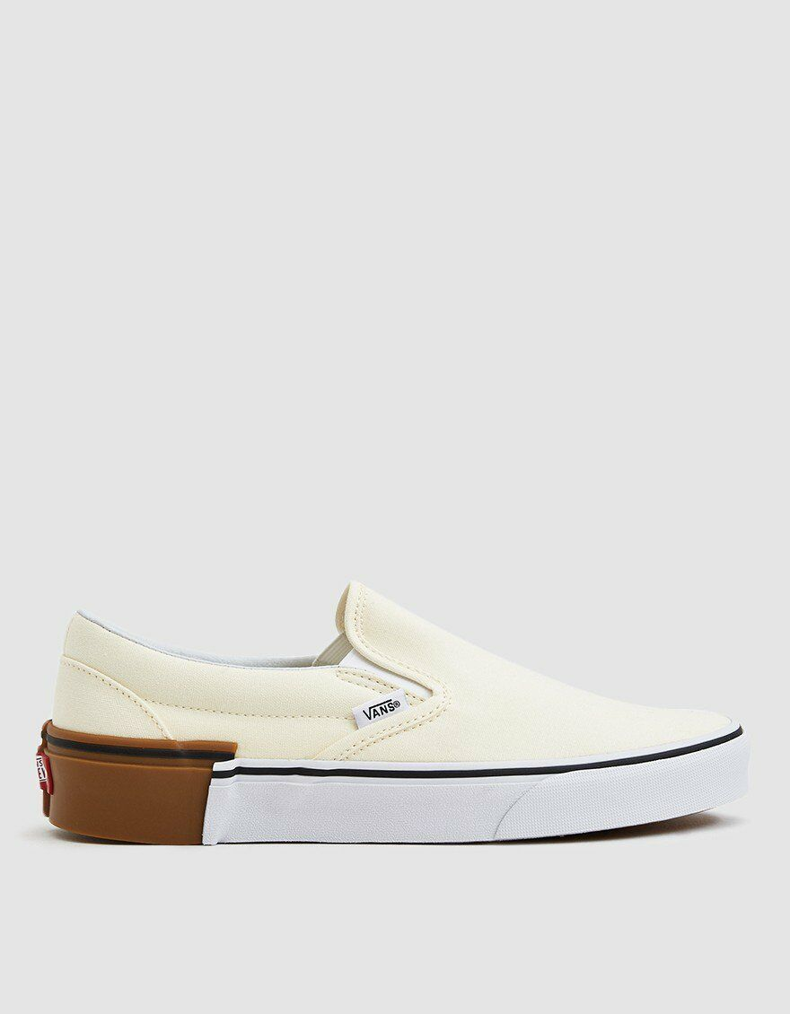 Vans CLASSIC SLIP ON Gum Block Classic White Men's shoes 9
