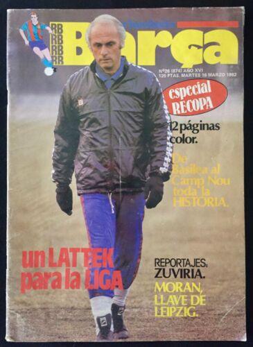 REVISTA BARÇA Nº26 (874) 1982 ESPECIAL RECOPA LOCOMOTIV-BARCELONA-ZUVIRIA-MORAN