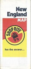 1983 SHOPRITE SUPERMARKET Road Map NEW ENGLAND Grocery Store Locator