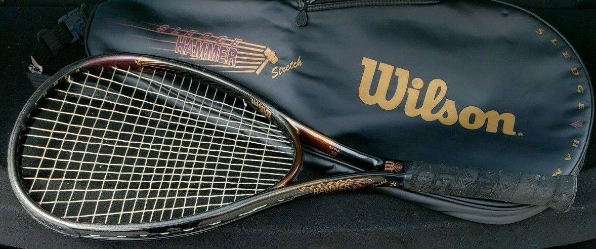 RARE  Wilson Sledge Hammer 2.8 Stretch  2 Raquette de tennis 116 pouce carré. 4 1 2 très bon