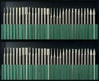 50pc Diamond Burr Bit Set For Dremel Rotary Tools 1/8 150 Grit + Organizer Case