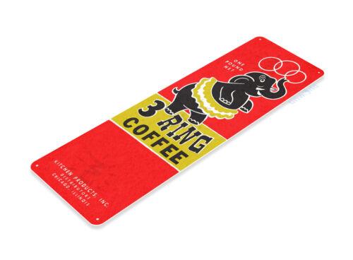 TIN SIGN 3 Ring Coffee Kitchen Cottage Coffee Shop Bar Metal Decor B651