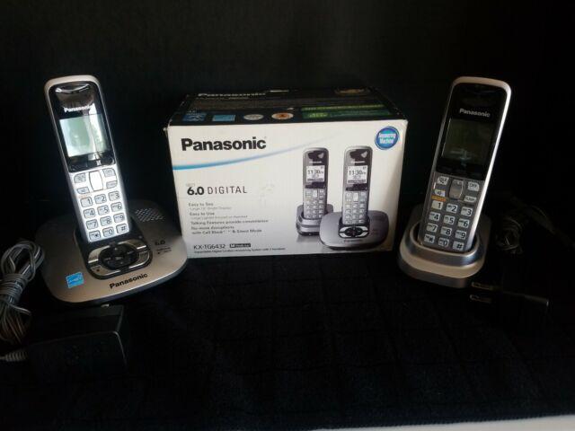 Panasonic Dect 6.0 Dark Grey Cordless Phone with Answering Machine (KX-TG6432M)
