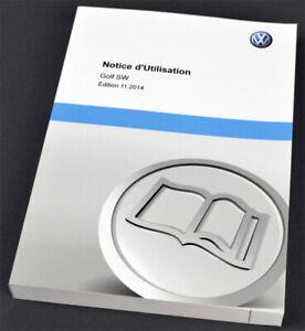 VW-Volkswagen-Golf-SW-Owners-Manual-francais-Notice-d-039-Utilisation-2014