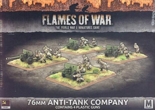 Flames of War Russian 76mm Anti-Tank Company 4 guns SBX48 Soviet