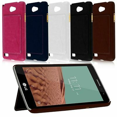 Luxury PU Leather Hard Stand Back Case Skin Holder Cover Protector For LG Phones