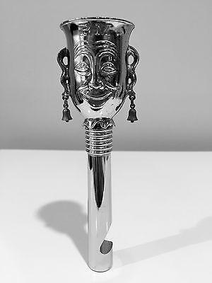 Vintage Ringing Jester Happy Sad Cocktail Jigger Shot Cup, Corkscrew & Opener
