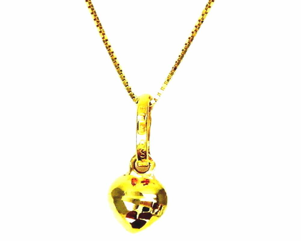 COLLANA   gold   yellow   18KT       CIONDOLO  PICCOLO  CUORE MIGNON