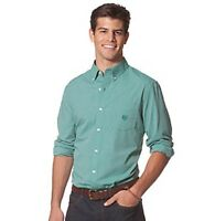 Chaps Shirt Dress Classic Fit Kent Polyester Blend Green Mens Size 2xl