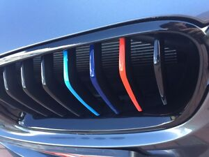 Bmw 3 Series F30 F31 Grill Stickers Set M Sport Grille Stripe Decal