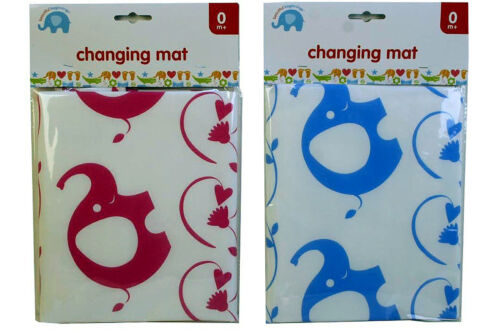 Lightweight Fold Up Baby Changing Mat Easy Wipe Clean Travel Blue Pink Boy Girl