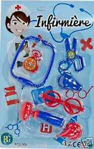 Poupées Flight Tracker Set Infirmiere 6 Pcs Stethoscope Marteau Dinette