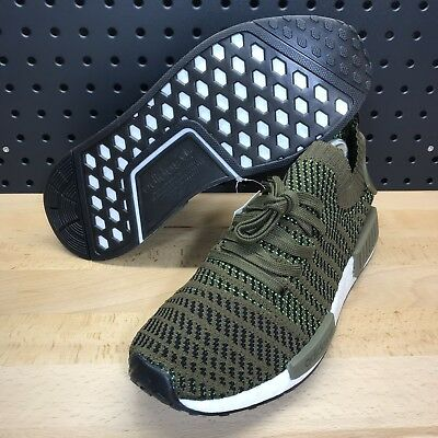 cc62b7ce5 Adidas NMD R1 STLT PK Primeknit Boost Olive Green Men s Size 9.5