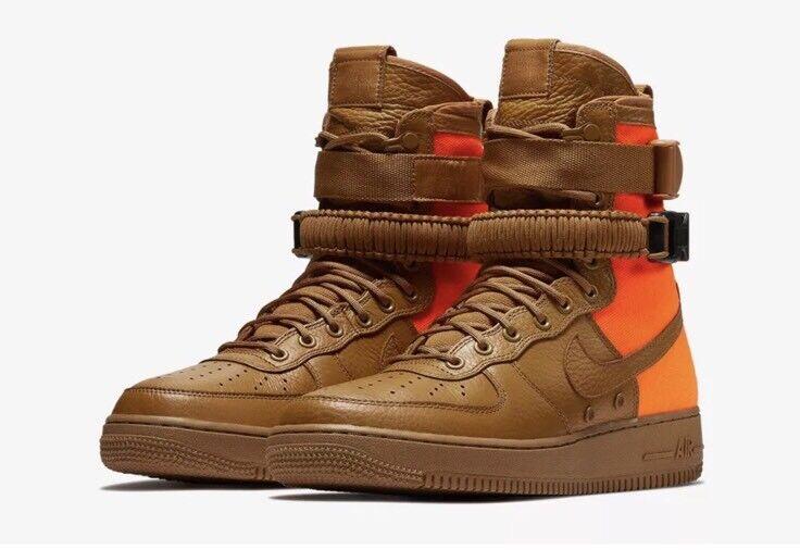 Nike Air SF AF1 Sz 9.5 Desert Orange 903270 778 Flyknit Jordan Brand discount