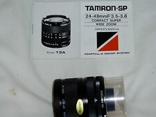 TAMRON SP....WIDE  ZOOM LENS......24-48 mm........excellent working order